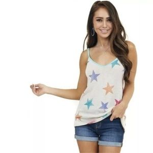 BiBi | Colorful Star Print Tank Top
